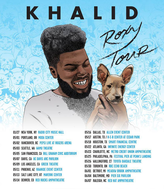 "Khalid Announces ""The Roxy Tour"""