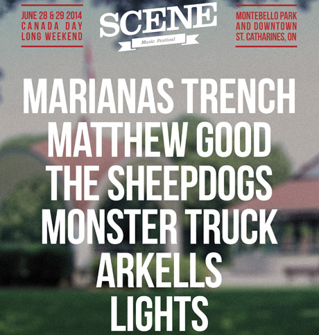 St. Catharines' SCENE Music Festival Brings Out Marianas Trench, Matthew Good, Sheepdogs for 2014 Edition