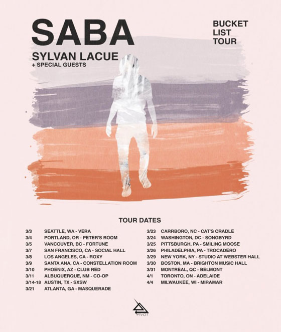 Saba Plots 'Bucket List Tour'