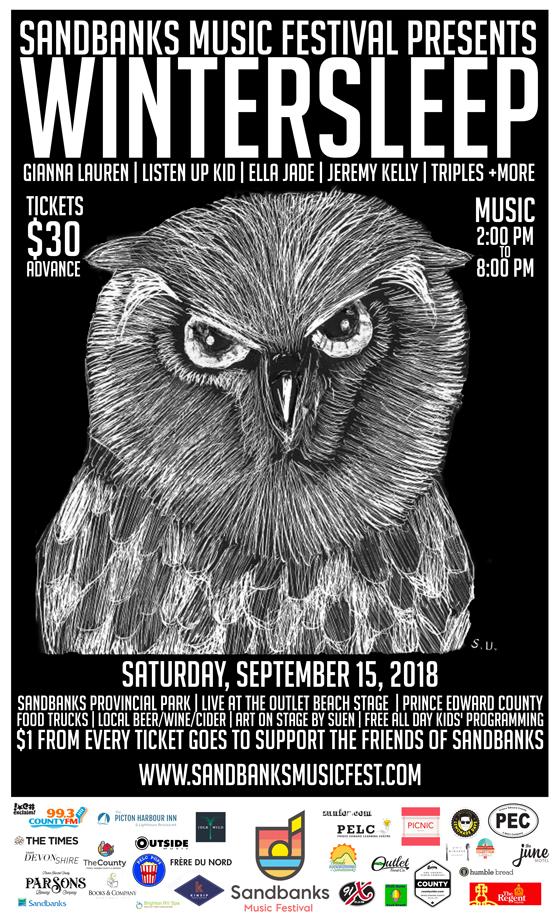 Sandbanks Music Festival Gets Wintersleep, Gianna Lauren for 2018 Lineup