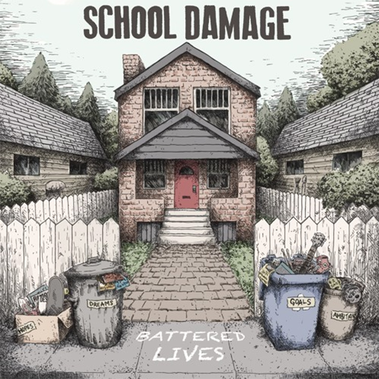 School Damage 'Battered Lives' (album stream)