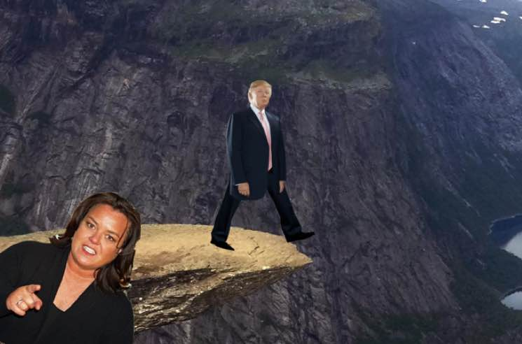 Rosie O'Donnell Sparks Outrage by Pushing a Virtual Trump Off a Cliff