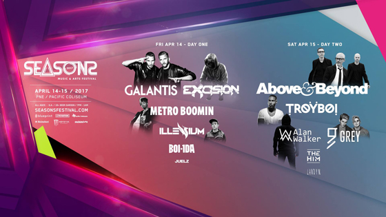 Vancouver's Seasons Festival Gets Above & Beyond, Metro Boomin for 2017 Edition
