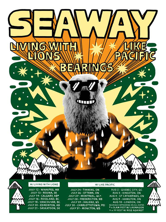 Seaway Plot Canadian Tour with Like Pacific and Living with Lions