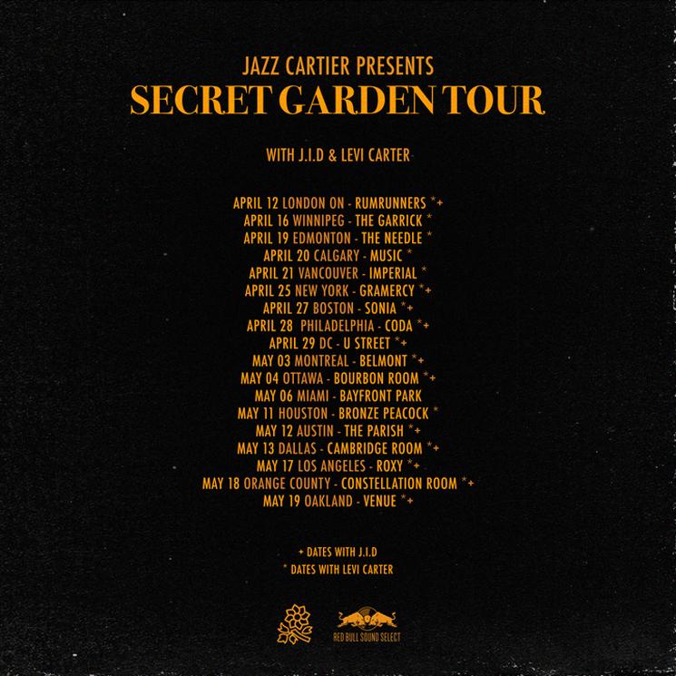 """Jazz Cartier Plots """"Secret Garden Tour"""""""