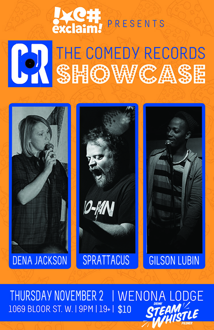 Gilson Lubin, Dena Jackson and Sprattacus Shake Hands at a Comedy Records/Exclaim! Standup Showcase