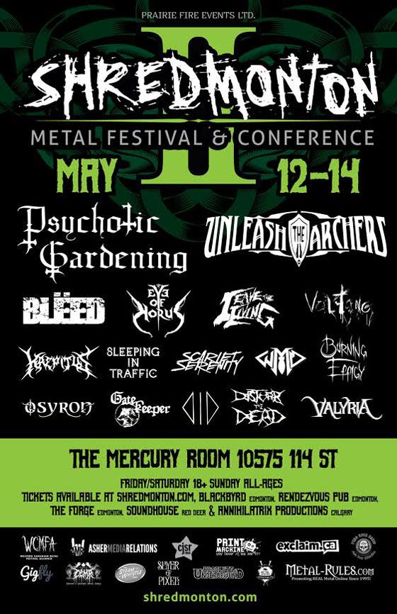 ShrEdmonton Metal Festival & Conference Details 2017 Lineup