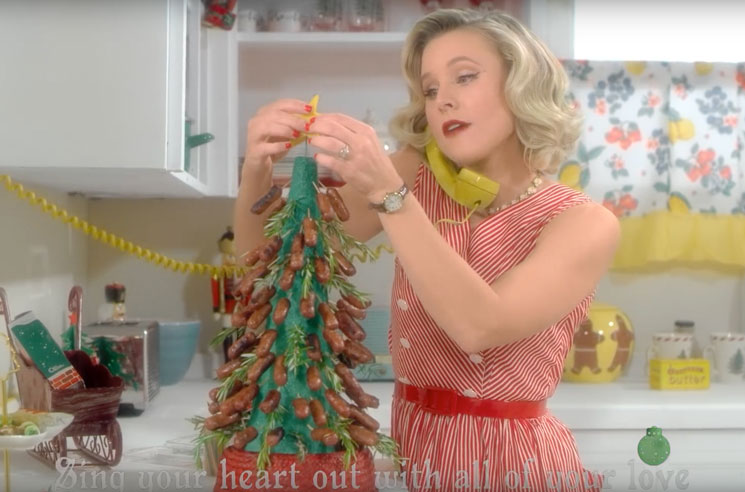 Watch Dax Shepard and Kristen Bell Host a Holiday Party in Sia's 'Santa's Coming for Us' Video