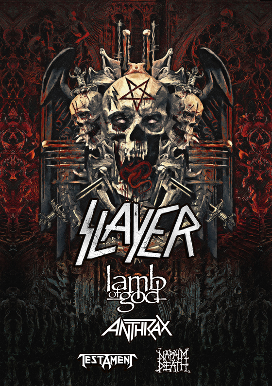 Slayer Map Out Second Leg of Final North American Tour