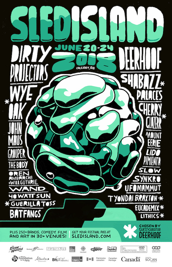 Sled Island Reveals Initial 2018 Lineup with Dirty Projectors, Mount Eerie, John Maus, Grouper