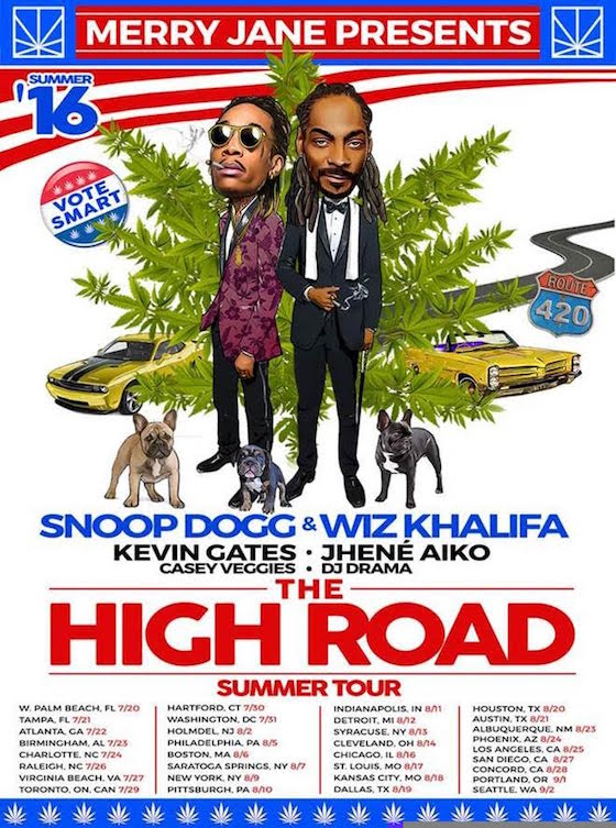 Snoop Dogg and Wiz Khalifa Team Up for North American Tour
