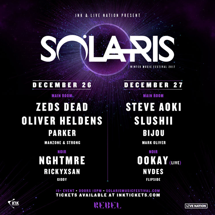 Solaris Gets Zeds Dead, Steve Aoki for 2017 Festival
