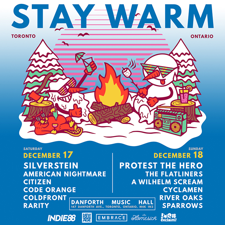 Silverstein Reveals 2016 Stay Warm Lineup with American Nightmare, Protest the Hero, Code Orange