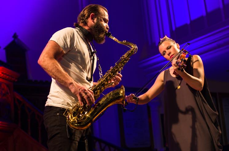 Colin Stetson & Sarah Neufeld St. Matthew's United Church, Halifax NS, July 16