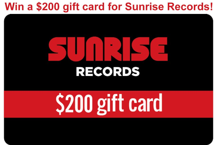 Sunrise Records - Win a $200 gift card to buy music and movies!