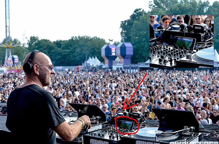 DJ Sven Väth Actually Watched Soccer on His Phone During a Festival Set
