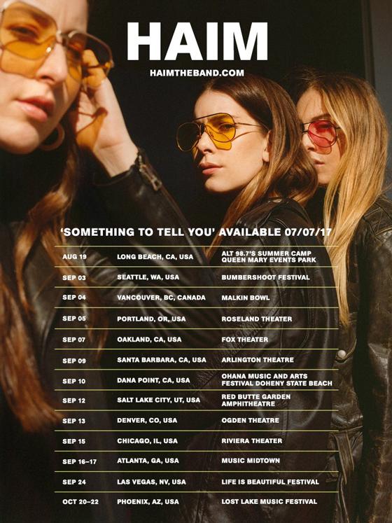 HAIM Announce North American Tour
