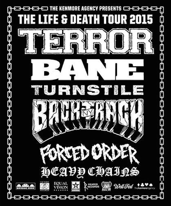 Terror, Bane, Turnstile and Backtrack Team Up for Life & Death Tour