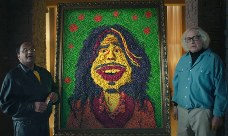 See Steven Tyler Get Transformed into Skittles in Super Bowl Ad