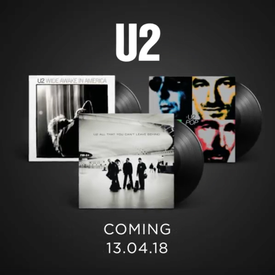 U2 Treat 'Pop,' 'All That You Can't Leave Behind' and 'Wide Awake in America' to Vinyl Reissues