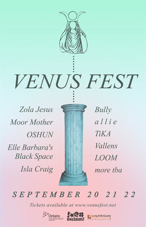 Toronto's Venus Fest Unveils 2018 Lineup with Zola Jesus, Moor Mother, Bully