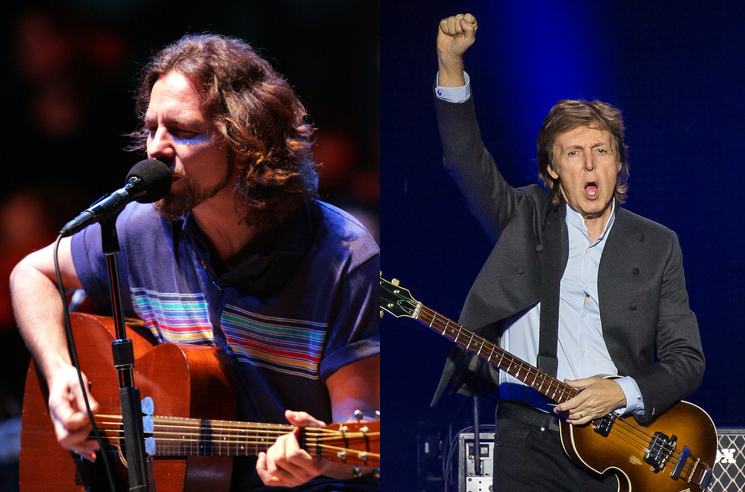 Eddie Vedder Says Paul McCartney Punched Him in the Face