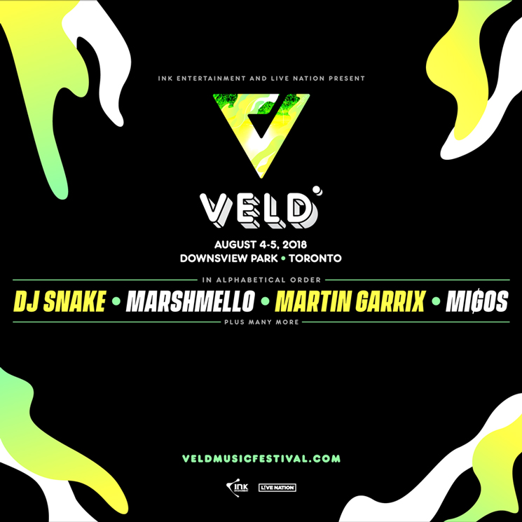 ​Veld Music Festival Gets DJ Snake, Marshmello, Migos for 2018 Lineup