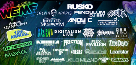 World Electronic Music Festival Returns to Ontario with Rusko, Calvin Harris, Skrillex, Digitalism