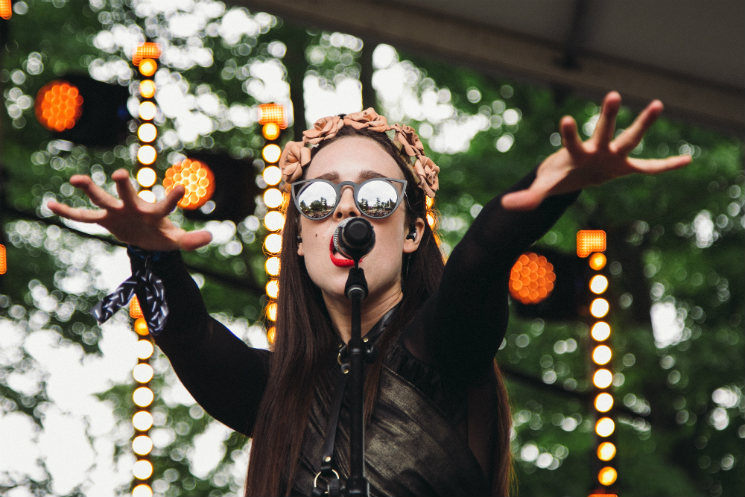 Allie X WayAway Stage, Oro-Medonte ON, July 24