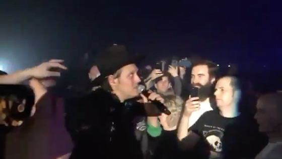 Arcade Fire's Win Butler Recovers Hat Snatched During Dublin Show