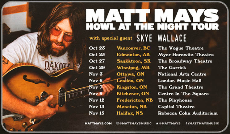 "​Matt Mays Maps Out Cross-Canada ""Howl at the Night Tour"""