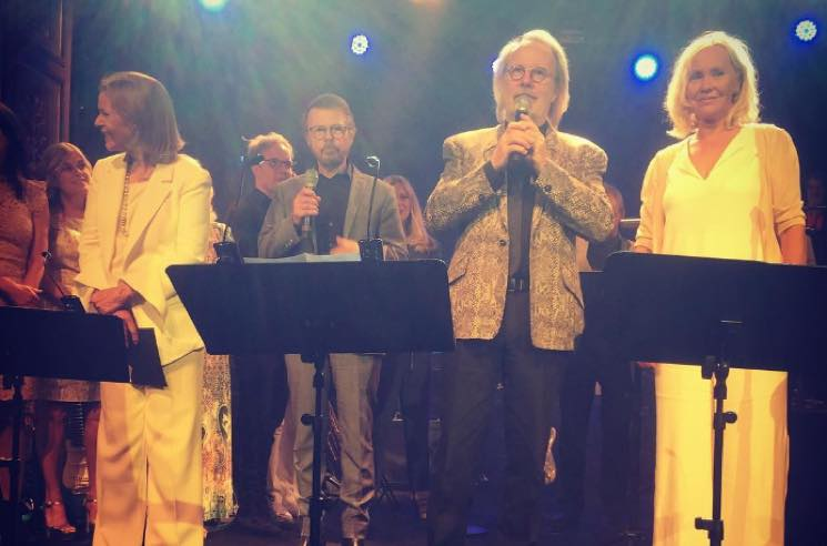 ​ABBA Perform Onstage Together for the First Time in 30 Years