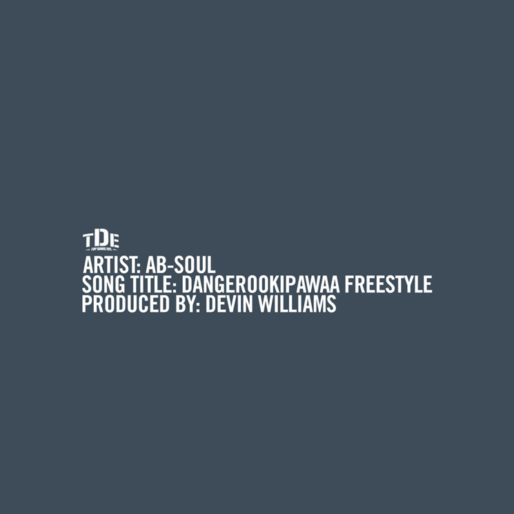 Ab-Soul Returns with 'Dangerookipawaa Freestyle'