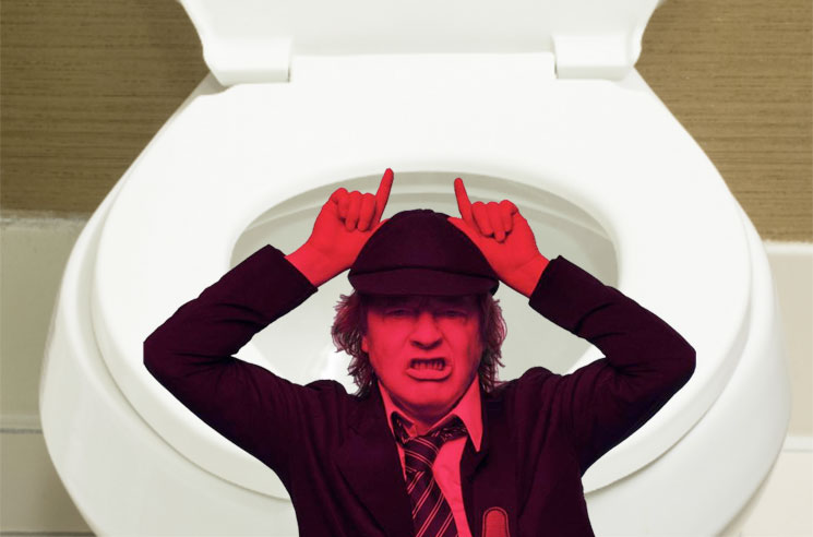 AC/DC's Angus Young Came Up with 'Highway to Hell' While He Was on the Toilet