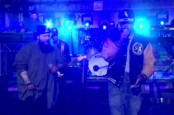 "Action Bronson ""Baby Blue"" (ft. Chance the Rapper) (live on 'Letterman')"
