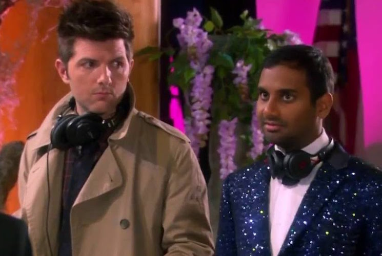 Adam Scott Says Aziz Ansari 'Is Doing Great' in Wake of Sexual Misconduct Allegations