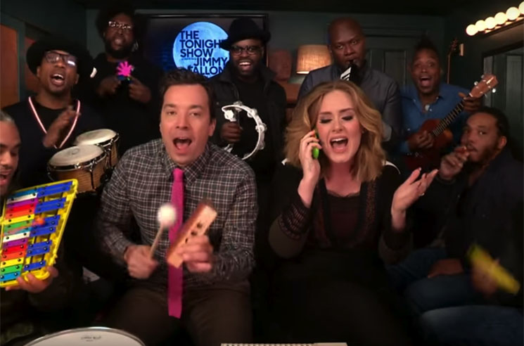 "Adele ""Hello"" (ft. Jimmy Fallon and the Roots) (performance video)"