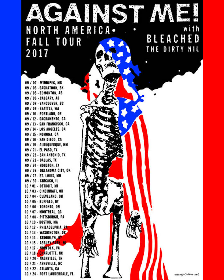 Against Me! Plot Massive Tour with Bleached and the Dirty Nil