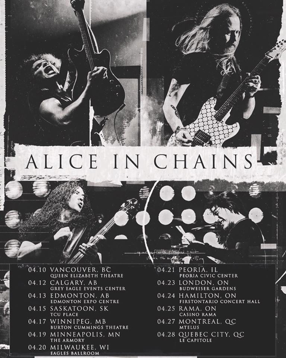 Alice in Chains Map Out Canadian Tour