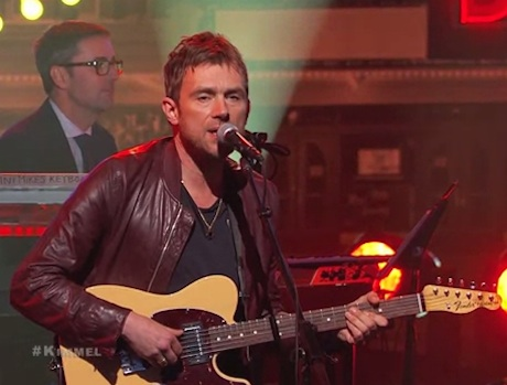 Damon Albarn 'Mr. Tembo' / 'Lonely Press Play' (live on 'Kimmel')