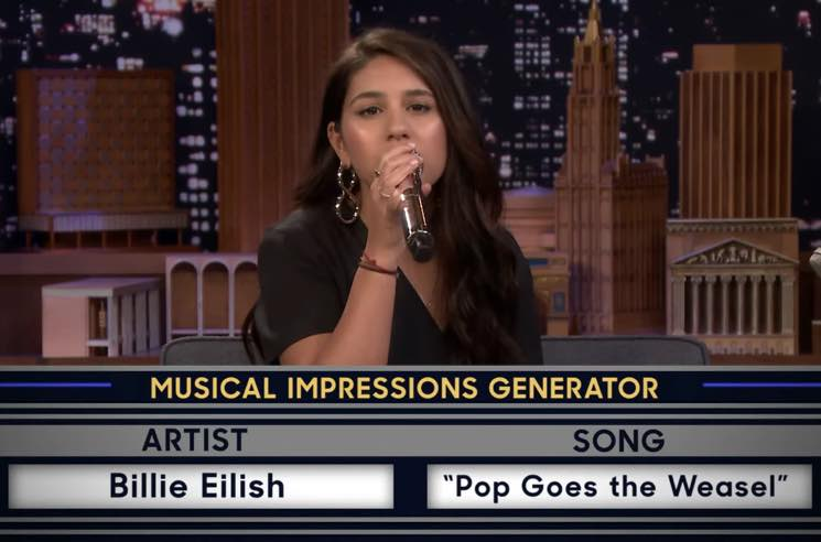 ​Watch Alessia Cara Impersonate Billie Eilish, Alanis Morissette and Amy Winehouse on 'Fallon'