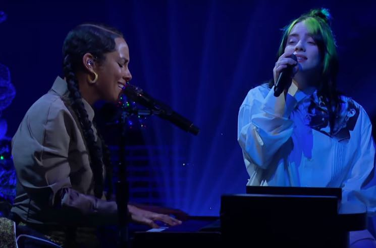 ​Watch Alicia Keys and Billie Eilish Cover Each Other's Songs and Perform Together
