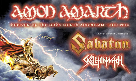 Amon Amarth Announce North American Tour with Sabaton and Skeletonwitch