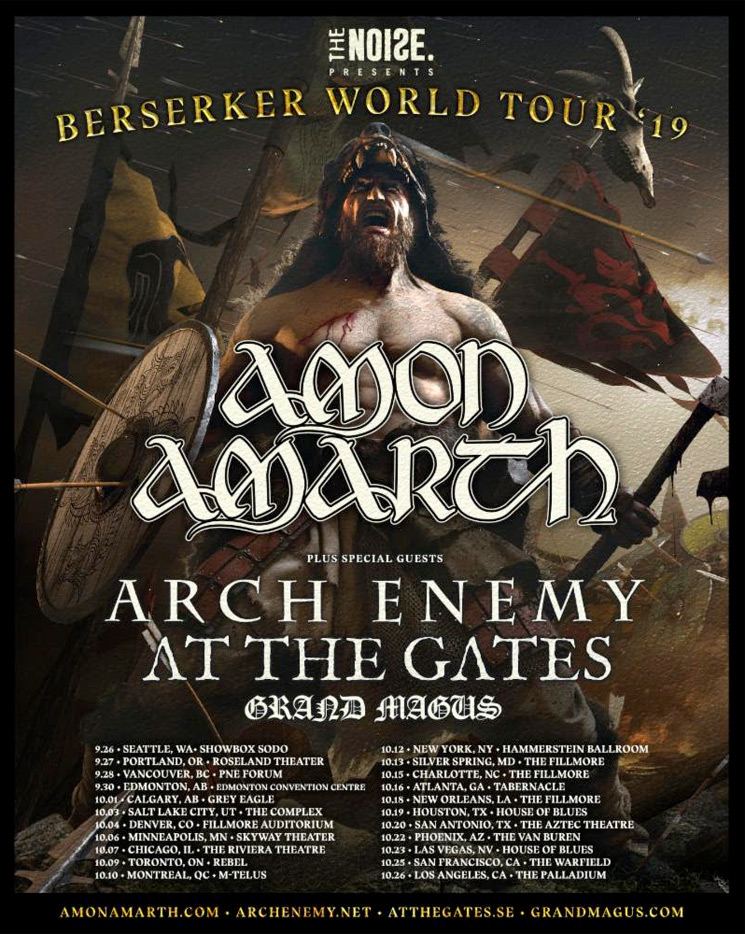 Amon Amarth Unveil North American Tour with Arch Enemy, At the Gates
