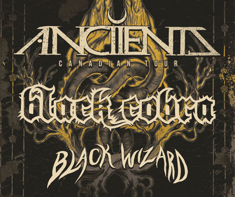 Anciients Roll Out Canadian Summer Tour with Black Wizard and Black Cobra