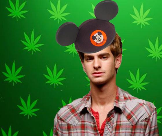 Andrew Garfield Spent His Birthday Eating Weed Brownies at Disneyland