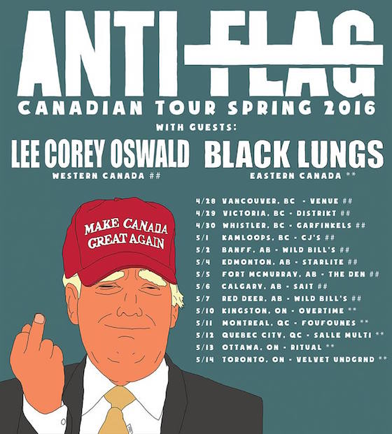 Anti-Flag Offer Free Show Admission for Displaced Fort McMurray Residents