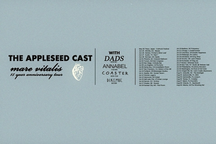 The Appleseed Cast Celebrate 15 Years of 'Mare Vitalis' with Tour