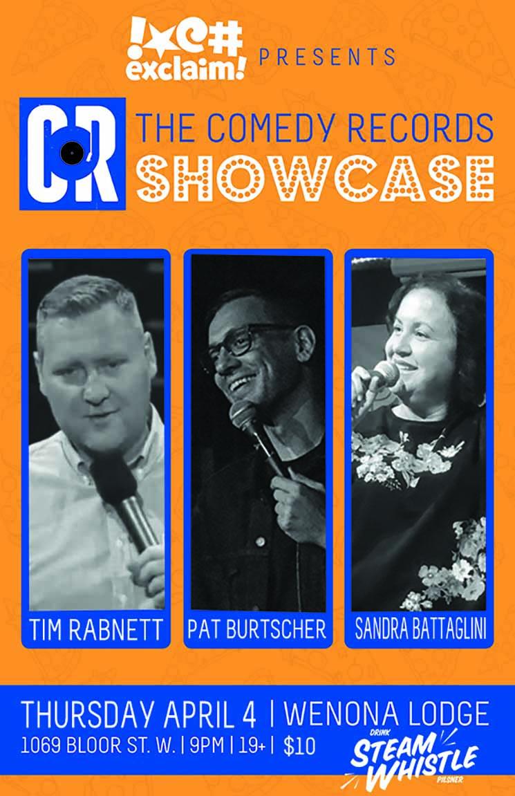 Sandra Battaglini, Tim Rabnett and Pat Burtscher Usher In Spring at the Exclaim!/Comedy Records Standup Showcase