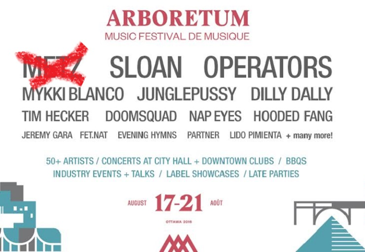 METZ Forced to Cancel Arboretum Appearance; Sloan Step Up to Play Second Set
